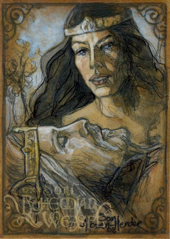 """""""Arwen mourns Aragorn's death"""" by The Bohemian Weasel"""