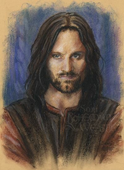 Aragorn in Rohan, art by The Bohemian Weasel
