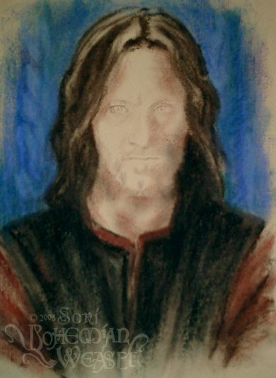 Work in progress for Aragorn at Rohan, by the Bohemian Weasel.