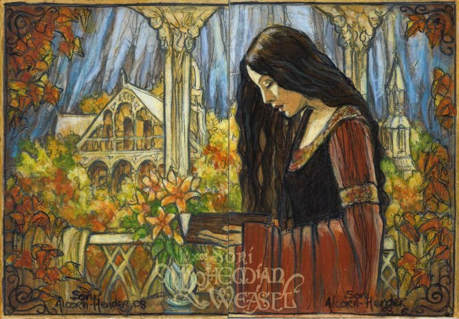 """""""The fading of Arwen and Rivendell"""" by The Bohemian Weasel"""
