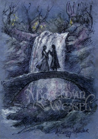 Arwen and Aragorn in Rivendell, art by the Bohemian Weasel-(T)
