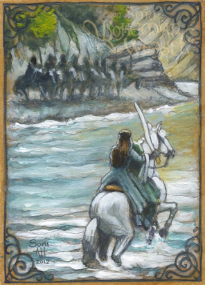 Arwen's defiance at the Ford of Bruinen