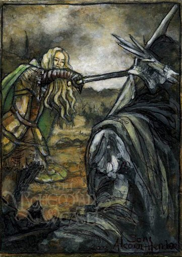 """Eowyn vs Witch-king"" by The Bohemian Weasel"