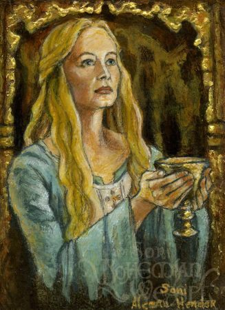 """""""Eowyn gives the stirrup cup"""" by The Bohemian Weasel"""