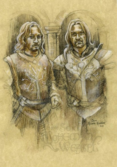 """Faramir and Boromir"" by The Bohemian Weasel"