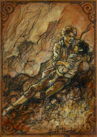 """Sam and Frodo on Mt. Doom"" by The Bohemian Weasel"