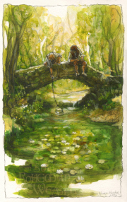 Frodo and Sam in the Shire