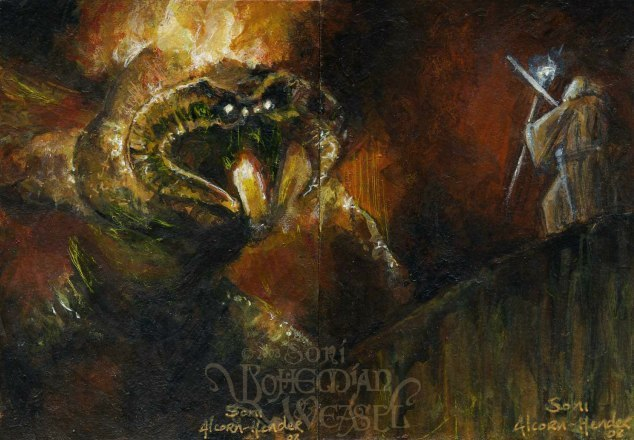 """""""Gandalf and the Balrog of Moria"""" by The Bohemian Weasel"""