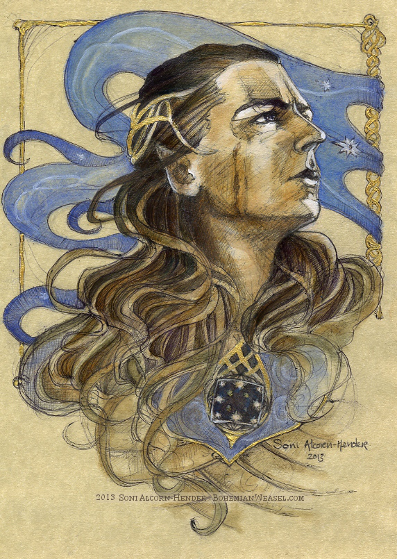 Gil-galad was an Elven-king. Artist: The Bohemian Weasel