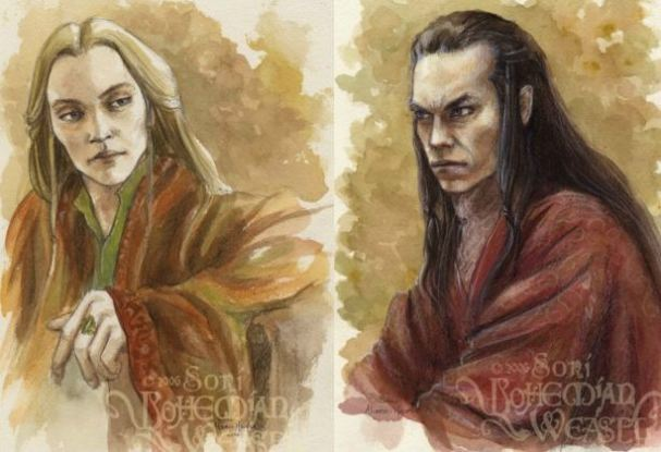 Glorfindel and Elrond, by the Bohemian Weasel