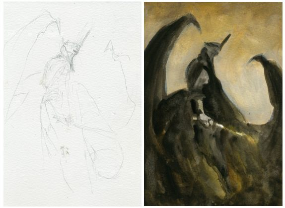 Work in progress for the Witch-king Rising, by the Bohemian Weasel