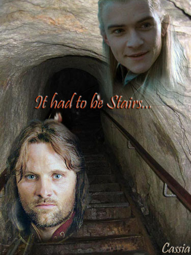 """""""It had to be Stairs"""" art by Cassia"""