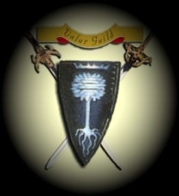 Valar Guild emblem: shield and crossed swords