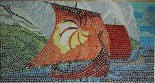 Breaking of Spring, mosaic by Elatan-(T).