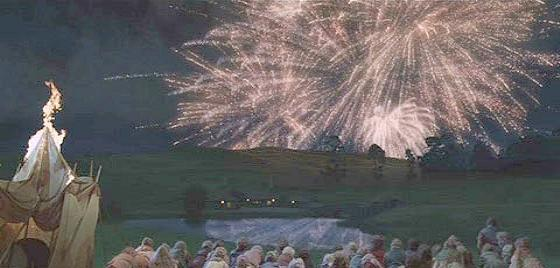 Fireworks at Bilbo's party