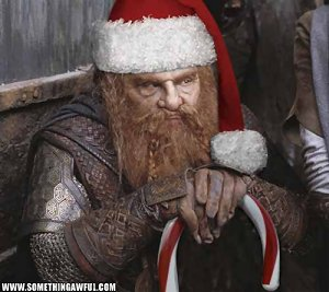 Gimli Christmas from somethingawful.com